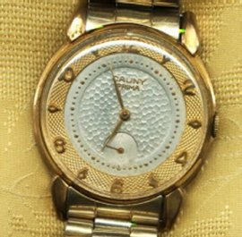 antique gold cauny prima gents watch