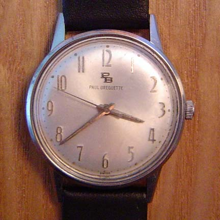 Front face of watch