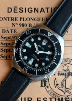 Beuchat French Navy Used Watches: rx1289