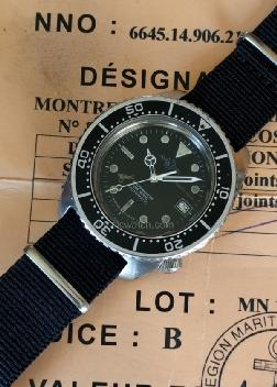 Auricoste French Navy Divers Used Watches: rx1351