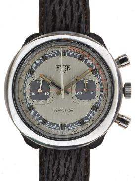Heuer 2 Register Wrist Watches