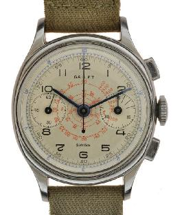 Gallet 2 Register Mini Wrist Watches